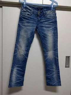 🚚 CLBU❤COO'S韓版低腰造型牛仔褲尺碼26