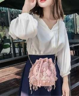 ❤Lace sequins sling bag