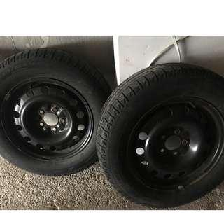 4 Used Dodge Grand Caravan Winter Tires WITH RIMS