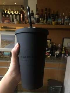Starbucks tumbler limited edition black matte
