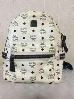 Authentic White MCM Backpack 🎒
