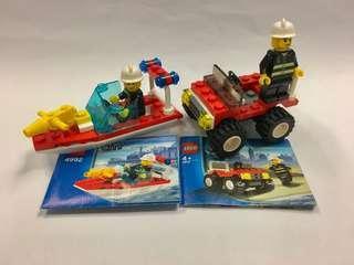 兩套絕版消防系列樂高 lego,有書齊件無盒