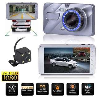 "Full HD A10 4"" Dual Lens 1080p A10 Car SUV DVR Video Recorder G-sensor Dash Cam"
