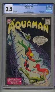 Aquaman 11 cgc 3.5 1st app of mera