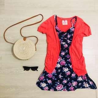 Short sleeved peach blazer