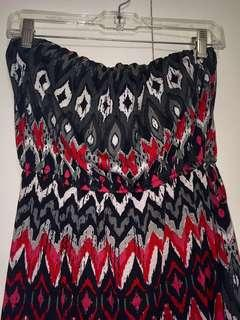 Tribe print maxi dress