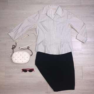 White Striped Polo