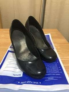 Black Shoes Synthetic Leather