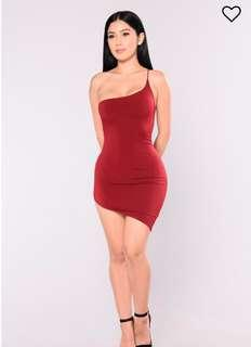 Red slinky dress for christmas
