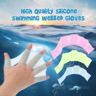 [Kibot]High Quality Silicon Swimming Webbed Glove/Aquaman Swimmer Hand Glove/Swim Gear Fins Hand Web Flippers Silicone Training Paddle Dive Glove