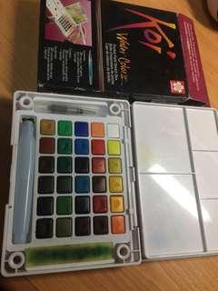 Koi Water Colors (30 colors) free 2 brush