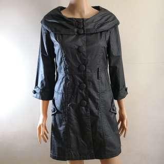 NB Dark Gray Textured Dress Coat