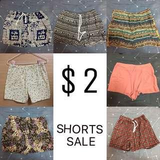 [SALE] $2 SHORTS!