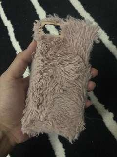 IPHONE 6/6s DUSTY PINK FUR CASE