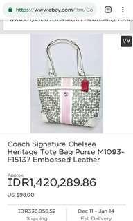 Coach bag M1093-F15137 authentic