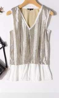 🇨🇦RW & CO. ~ silver vest top