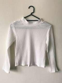 Ribbed Crew Neck Shirt