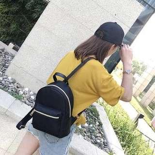🚚 現貨 流行黑色小後背包 女生後背包 小包包 休閒後背包
