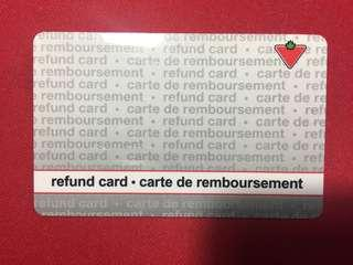$101 Canadian Tire Gift Card Refund Card
