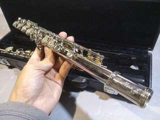 Jmax銀笛 flute16孔 85%new如照片 連盒 長笛 管弦樂
