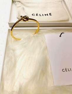 CELINE 扭結手環 千金名媛必備 ♥️ 專櫃真品 含盒