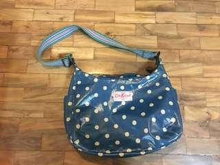 Original Cath kidston oil cloth day button spot deep blue bag