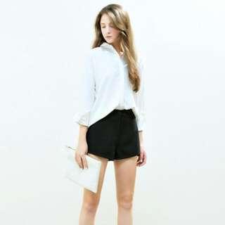 🚚 轉賣 Meier q 俐落感下擺剪接設計短褲