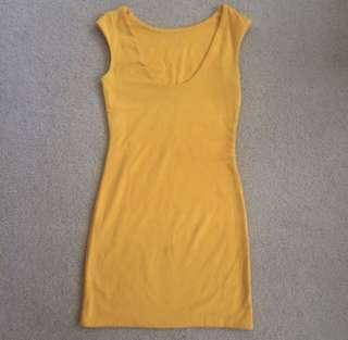 Kookai Yellow Mustard Dress