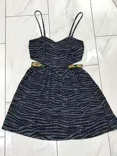 Material Girl tribal cut out dress