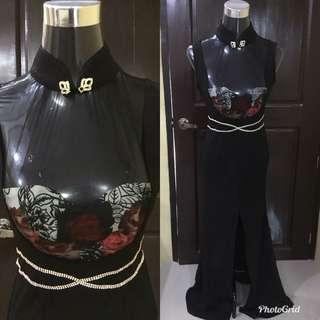 Black Long gown FOR RENT!
