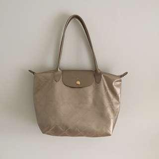 Gold Longchamp Le Pliage