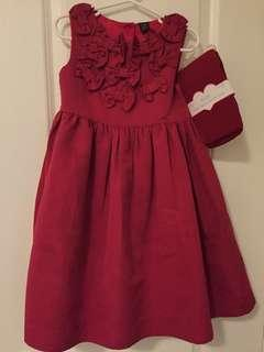 GapKids Girl's Christmas Dress with New Tights Size 5