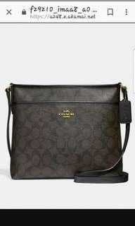 🚚 Sale!  Mint Condition Coach File Bag in Dark Brown Signature Canvas