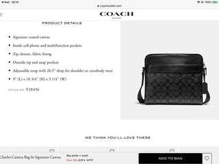 🚚 Brand New Men's Black Charles Flight Bag In Signature Leather