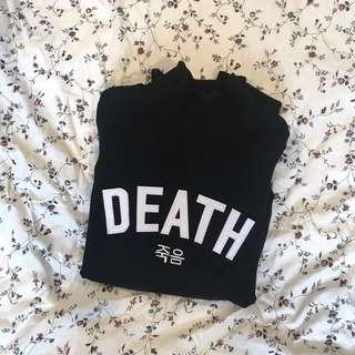 'death' turtleneck