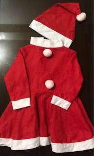 Preloved Santa Claus Costume Set 1-3 years old