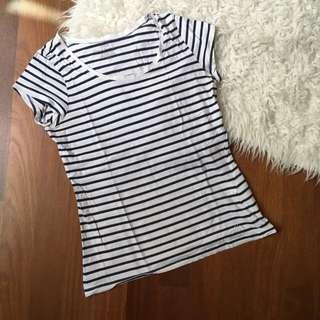 H&M stripes top tee shirt