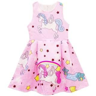 (Pre-order) Unicorn Princess Dress (2 Colours) #608
