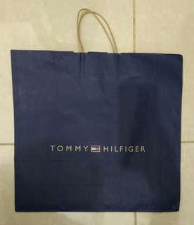 Paperbag Paper Bag Tas Karton Branded Tommy Hilfinger Large
