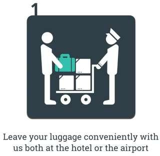 Luggage-Flyers (Luggage transfer service between the city and the airport)