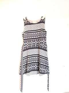 ❤️Sunday Dress (Black & White Printed)