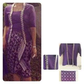 REPRICE!!!kebaya kutu + kain batik