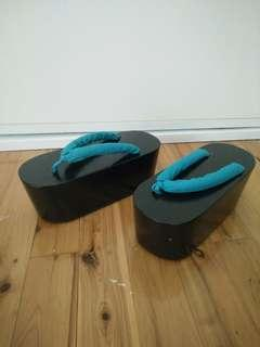 NEW Japanese Geta Sandals Cosplay with Socks