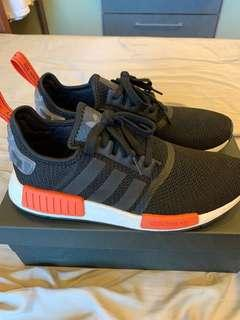 Adidas NMD R1 Black/Orange Camo Heel
