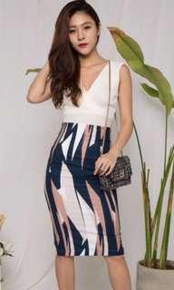 BN Striped Geraldeen Pencil Skirt