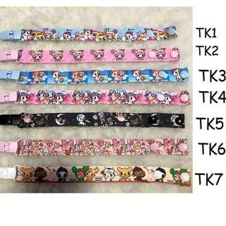 HANDMADE WITH LOVE BRAND NEW Pacifier Clip tokidoki 7 designs to choose, baby items accessory