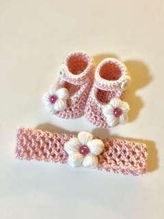 Crochet Baby Ankle Cut Baby Shoes Set