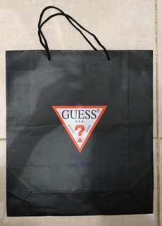 Paperbag Paper Bag Tas Karton Branded Guess Large
