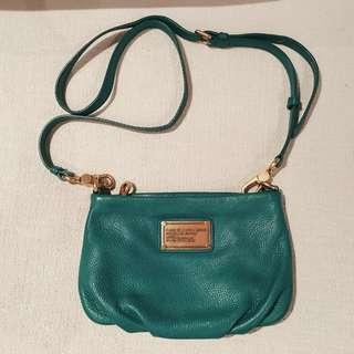 authentic Marc Jacobs Teal summer sling bag gold brass hardware