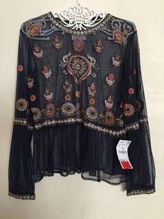 Zara embroidered longsleeves